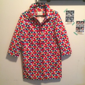 Kate Spade Pattern Print Fun Raincoat Jacket Patterns Coat