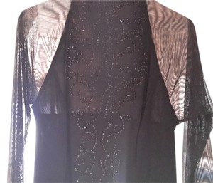 J.R.NITES Studded Sheered Top *NEW*Sheer black