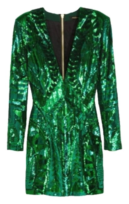 Item - Green Above Knee Night Out Dress Size 2 (XS)