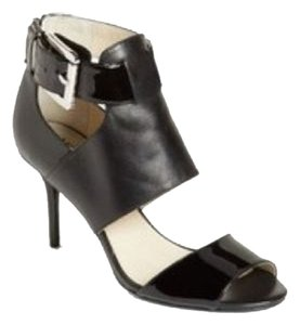 Michael Kors Leather Ankle Strap Open Toe Black Sandals