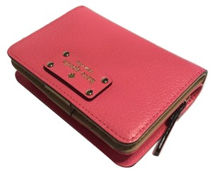 Kate Spade Kate Spade New York Wellesley Peony Pink Cara Leather Clutch Wallet WLRU1745