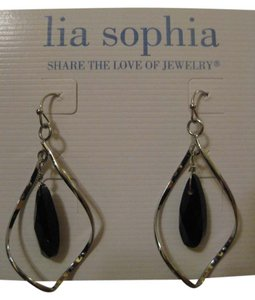 Lia Sophia Lia Sophia Earrings - Hammered Silver