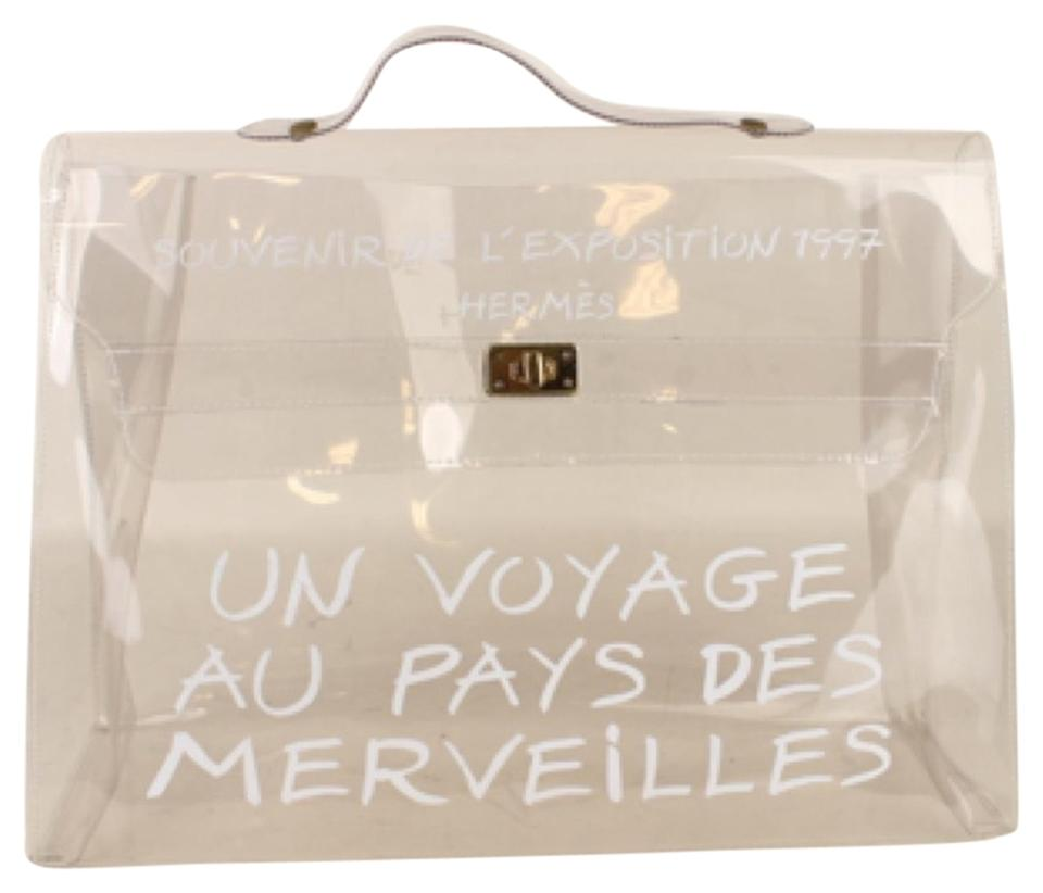 08d781c0521 Hermès Kelly Transparent Colorless Vinyl Beach Bag - Tradesy