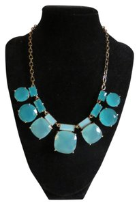 Kate Spade Nwt Kate Spade Statement Necklace Multi Blue Stone Necklace 17
