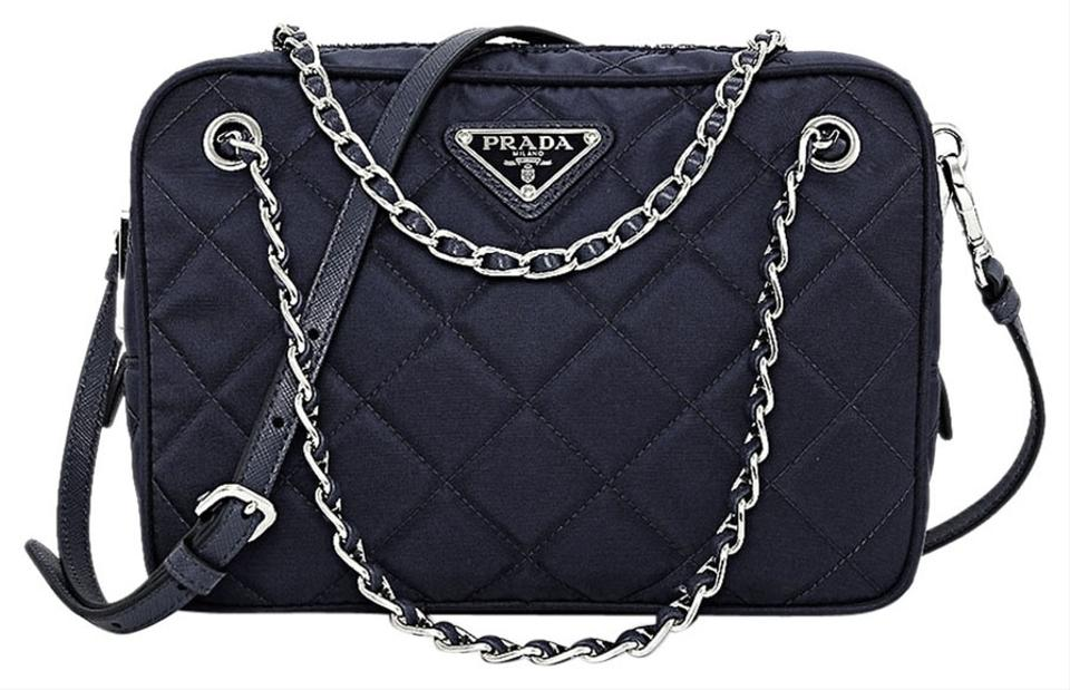 1fb25b56e337 Prada Handbag Bl0910   Nero Black Tessuto Impuntu Quilted Nylon with ...