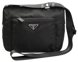 Prada Crossbody Nylon black Messenger Bag