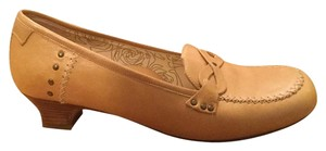 Taryn Rose Leather Camel Pumps