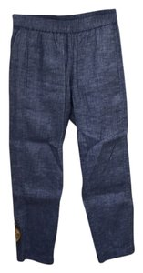 Theory Straight Pants Blue