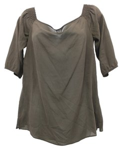 Theory Silk Top BROWN