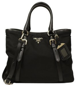 Prada Bowling Soft Tote in black