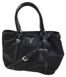 Prada Calfskin Tote in Black