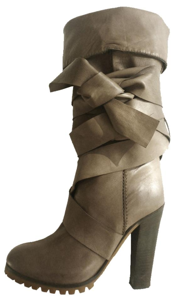 Chloé Gray Tall Convertible Convertible Tall Wrap Boots/Booties a42448