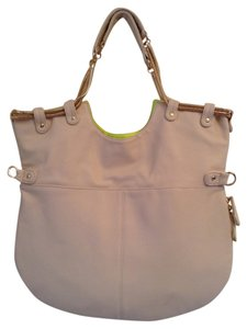 deux lux Tote in Ivory / Neon Yellow