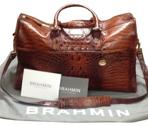 Brahmin Toasted Almond Travel Bag