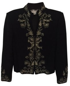 St. John Black with gold trim Blazer