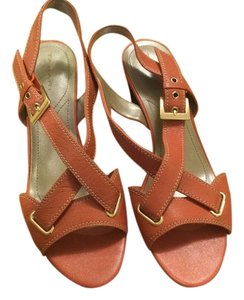 Tahari Dark Salmon Sandals