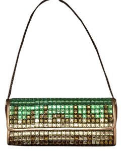 Marco Santi Green/Gold Clutch