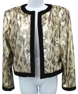 Lame Evening Jacket Top GOLD