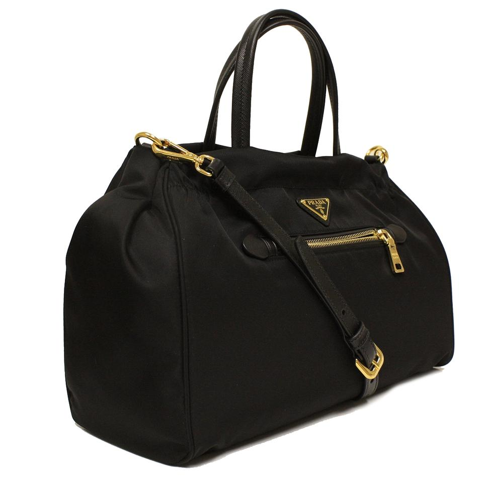 prada tessuto leather weekender