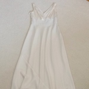 J.Crew Ivory Off White Silk Chiffon Wedding Dress Size 0 (XS)