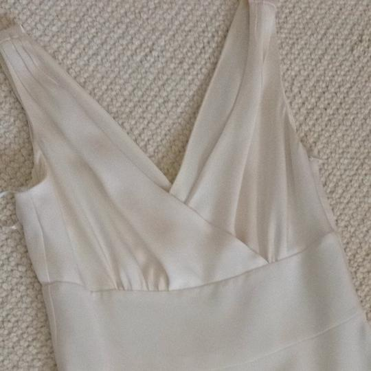 J.Crew Ivory Off White Silk Chiffon Wedding Dress Size 0 (XS) Image 1