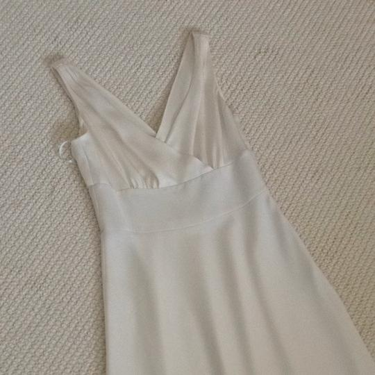 J.Crew Ivory Off White Silk Chiffon Wedding Dress Size 0 (XS) Image 2