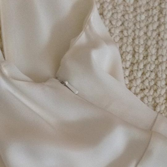 J.Crew Ivory Off White Silk Chiffon Wedding Dress Size 0 (XS) Image 6
