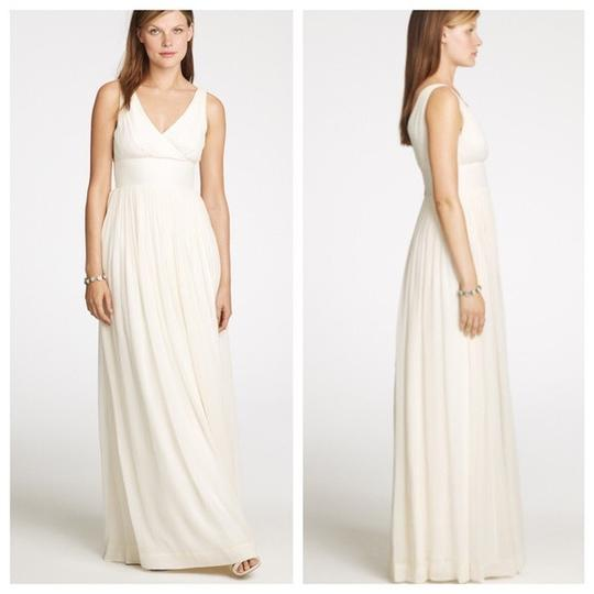 J.Crew Ivory Off White Silk Chiffon Wedding Dress Size 0 (XS) Image 8