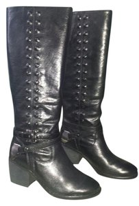 Donald J. Pliner Leather BLACK Boots