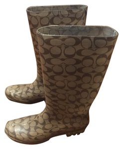 Coach Brown monogram Boots