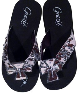 Grazie Brown and White Sandals