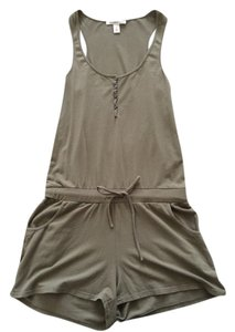 Kenneth Cole Romper Armygreen Coverup Summer Romper Romper Army Summer Romper Sleeveless Beach Top Green