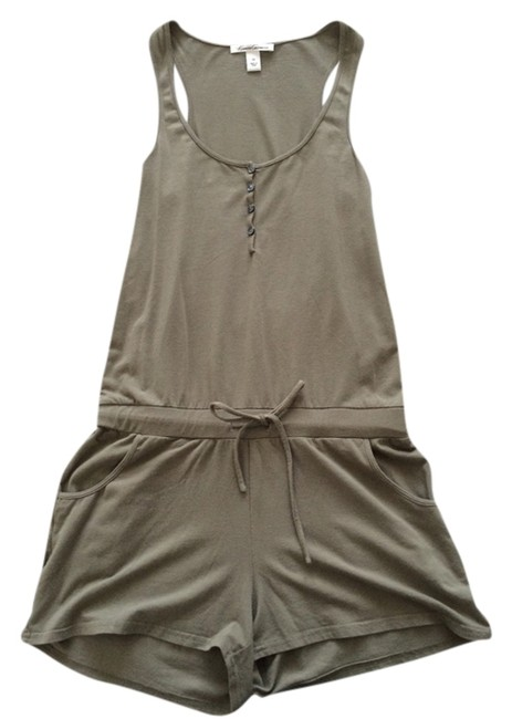 Kenneth Cole Romper Army Coverup Summer Romper Romper Army Summer Romper Sleeveless Beach Top Green