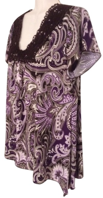 Preload https://img-static.tradesy.com/item/872573/dress-barn-purple-brown-paisley-blouse-size-12-l-0-0-650-650.jpg