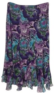 Dress Barn Skirt Purple Turquoise