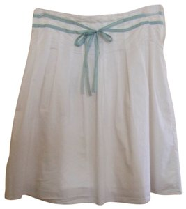 Old Navy Skirt White Blue