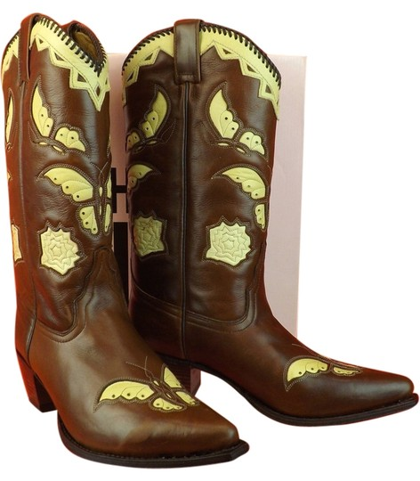 Preload https://img-static.tradesy.com/item/8726335/juicy-couture-brown-leather-loredo-cognac-butterfly-cowboy-western-bootsbooties-size-us-7-regular-m-0-1-540-540.jpg