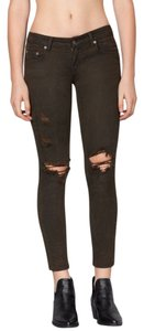 Carmar Distressed Low Rise Skinny Jeans-Dark Rinse