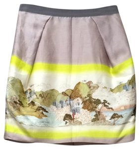 Matthew Williamson Mini Mini Skirt Grey Purple