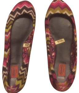 Missoni for Target Black white green pink purple Flats