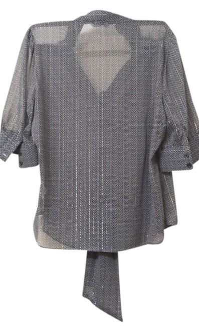 French Connection UK Style Top Grey/Silver