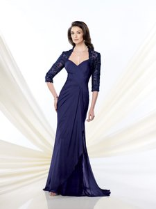 Montage By Mon Cheri Navy 214943 Dress