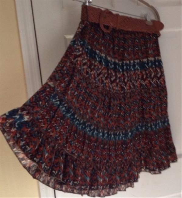 Roz & Ali Skirt Brown Turquoise