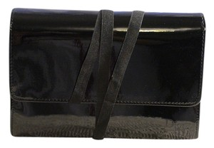 Dior Dior Black Patent Faux Leather Cosmetic Makeup Case Bag
