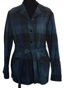 Pendleton Blue/Black Plaid Blazer