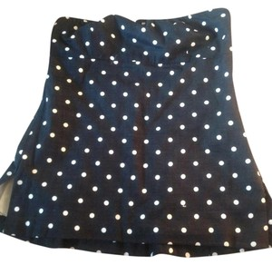 J.Crew Strapless Top Navy/White Polka Dot