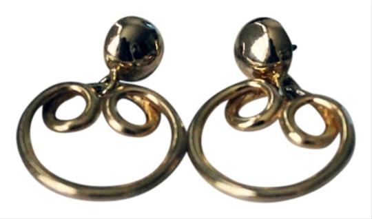 Gold Circle Twist Round Earrings Gold Circle Twist Round Earrings