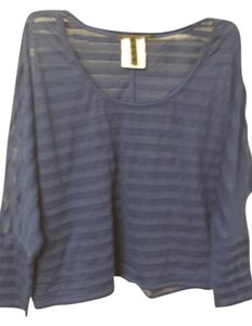 BCBG Max Azria Oversized Top Blue