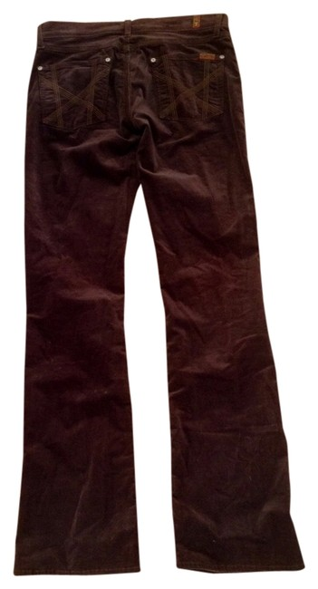 Item - Brown Dark Rinse Velvet Straight Leg Jeans Size 28 (4, S)