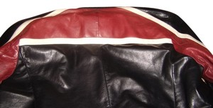 Prada Black, red, and white Leather Jacket